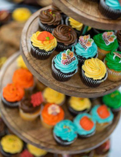 fall themed cupcake